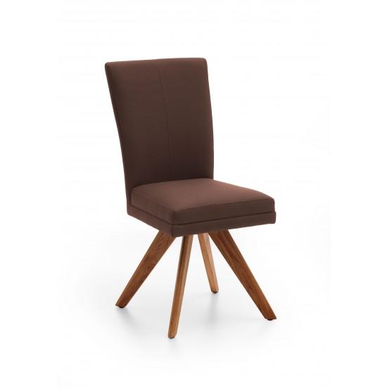 Esszimmerstuhl Retro Vintage Design Stuhl Armlehne Samt Beige Grün Terra
